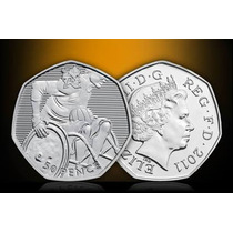 Moneda #28 Olimpiadas Londres 2012 50 Pence (rugby)
