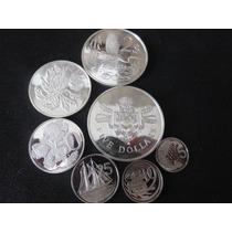 Monedas Plata Set 1980 Islas Cayman 7 Monedas