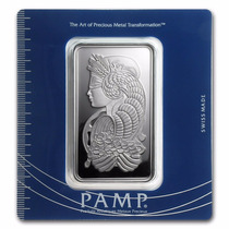 Lingote Pamp Suisse 100 Gramos Plata Pura Con Certificado.
