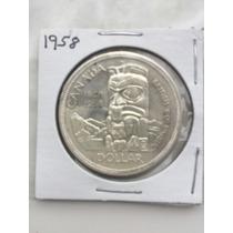 1858-1958 Centenario Bc, Canada , Moneda De Plata.