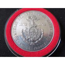 Moneda Plata Queretaro Homenaje A Juarez 1972