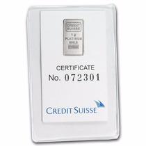 Crédito Suizo 1 Gramo Platino Puro 999.5 Con Certificado.