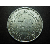 Alemania 1/10 De Marco Fecha 1923 Aluminio 27mm