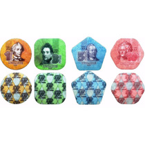 Colección 4 Monedas De Plastico De Transdinestria