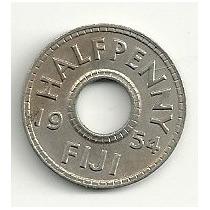 Moneda Fiji 1/2 Penny (1954) Hm4