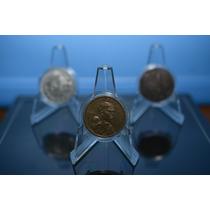 Exhibidores Pedestal Para Moneda, Marca Pccb, Lote 10 Piezas