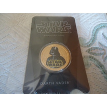 2011 Lucasfilm Newzealandmint Gold Plated Coin Darth Vader