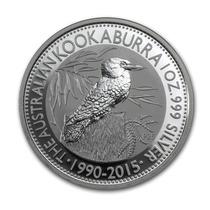 Australia 2015 Kookaburra 1 Onza Plata Pura .999 Con Cápsula