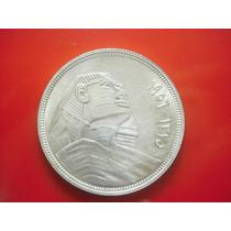 Egipto 5 Piastres Esfinge Fecha 1956 Plata Ley 0.650