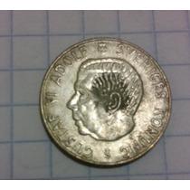 Antigua Y Rara Moneda Suecia 1 Krona 1958 Plata