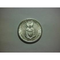 Filipinas 20 Centavos Fecha 1944 Plata Ley 0.900 4g 21mm