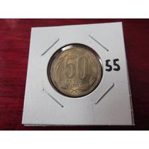 #55 Moneda Del Mundo 50 Pesos 2001 Chile