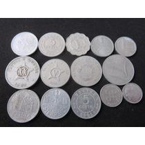 Monedas Del Mundo De Aluminio Coleccion Lote 14 Monedas