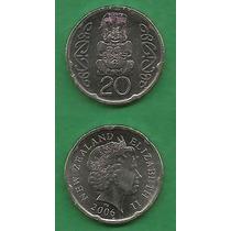 Grr-moneda De Nueva Zelanda 20 Cents 2006