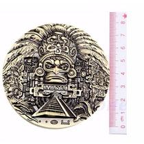 Moneda Conmemorativa Maya C Calendario Azteca Colección 8cm