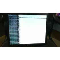 Monitor Lcd 15 ¨ Acer Dañado S/base, Barato P/reparacion Lbf