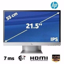 Nuevo Monitor Hp 22bw Plata Y Negro Ips Full Hd