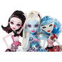Monster High Blue Dot Dead Gorgeous Draculaura Abbey Ghoulia