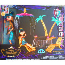 Monster High Set Con Muneca Cleo De Nile Muebles Y Accesorio