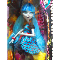 Monster High Muneca Fusion Ghoulia Yelps Y Draculaura