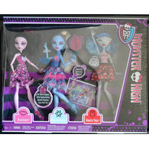 Set Draculaura Abbey Y Ghoulia Monster High