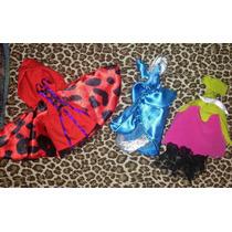 Set De 3,vestidos Para Muñecas Monster High Edición Cuentos.