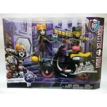 Monster High Moto O R I G I N A L !!! Meowlody Y Purrsephone