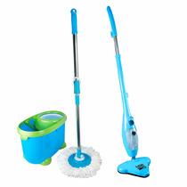 Mop Expres Azul Limpiador Vapor X9 Y Spin Mop Trapeado Gira
