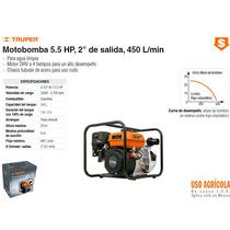Moto Bomba Para Agua 5.5 Hp 2x2 450 L/min Truper Dizome