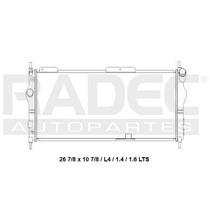 Radiador Chevrolet Chevy 2010-2011 L4 1.4/1.6 Lts Largo Aut