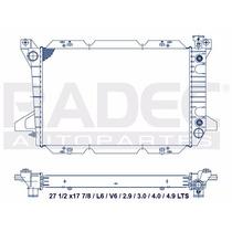 Radiador Ford F-150 85-97 L6 Reforzado Automatico