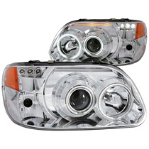 Ford Explorer 95-01 Projector H.l 1 Pcs Chrome Clear Amber