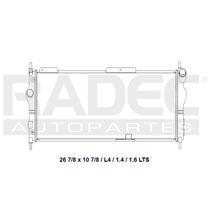 Radiador Chevy 94-11 L4 1.4/1.6 Lts Largo Automatico