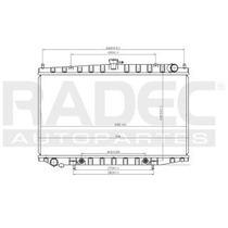 Radiador Nissan Altima 1993-1994-1995 L4 2.4 Lts Automatico