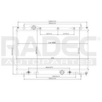 Radiador Dodge Neon 2000-2001-2002 L4 2.0l 4 Velocidades Aut