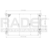 Radiador Ad A4/a6/quattro 02-11 L4/v6 2.0/3.0 Lts Automatico