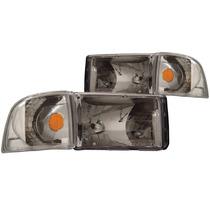 Dodge Ram 94-01 Crystal H.l Chrome Amber With Corner Light