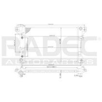 Radiador Chrysler Shadow 1994-1995 L4/v6 2.2/3.0l Automatico
