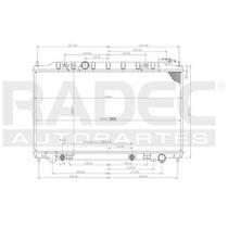Radiador Nissan Maxima 2005-2006-2007 V6 3.5 Lts Automatico