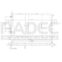 Radiador Chevrolet Astra 2002-2003 L4 1.6/1.8/2.2lts Estand
