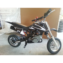 Minimoto Cross Negra 49 Cc Pocket Bike Minicross Tj Sports