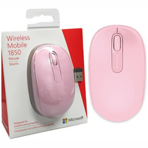 Mouse Raton Microsoft Inalambrico Modelo 1850 Rosa Wireless