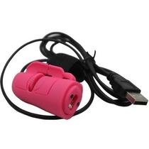 Mini Usb Mouse Optico Para El Dedo. Reduce La Fatiga. Rosa