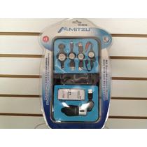 Kit Estuche De Cables Mouse Mini Usb Con Adaptadores