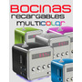 Mini Bocinas Portatil Recargable Usb Mp3 Micro Sd Fm Aux Led