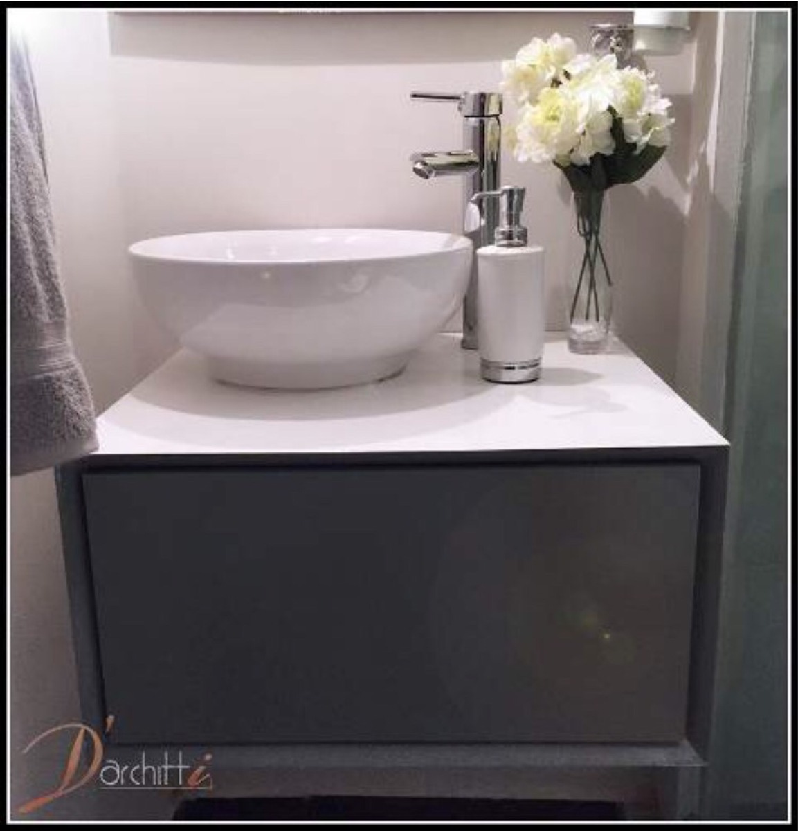Ovalin Mueble Para Baño:Mueble De Baño Empotrar Minimalista Moderno Ovalin Monomando – $