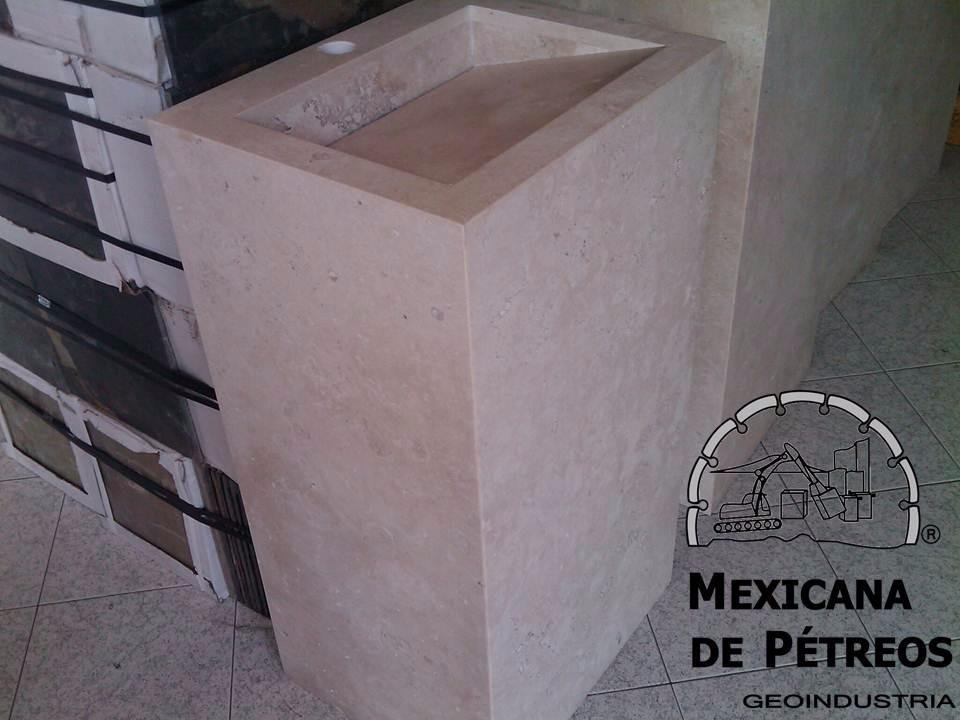 Muebles Para Baño Puebla:Mueble De Mármol Beige Para Baño Con Lavabo Minimalista – $ 4,35000