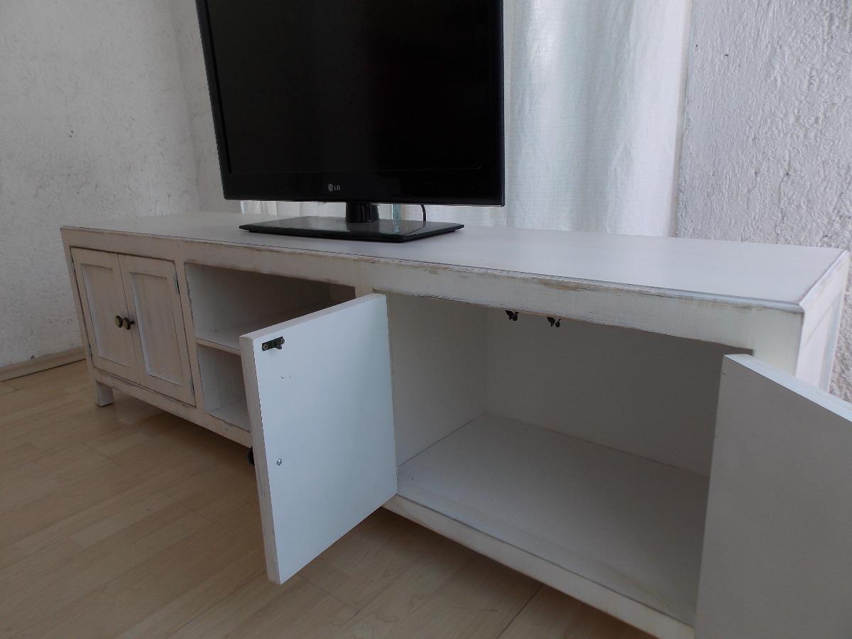 Muebles Baño Estilo Antiguo:Mueble De Tv Estilo Vintage Color Blanco Antiguo Decapado – $ 3,95000