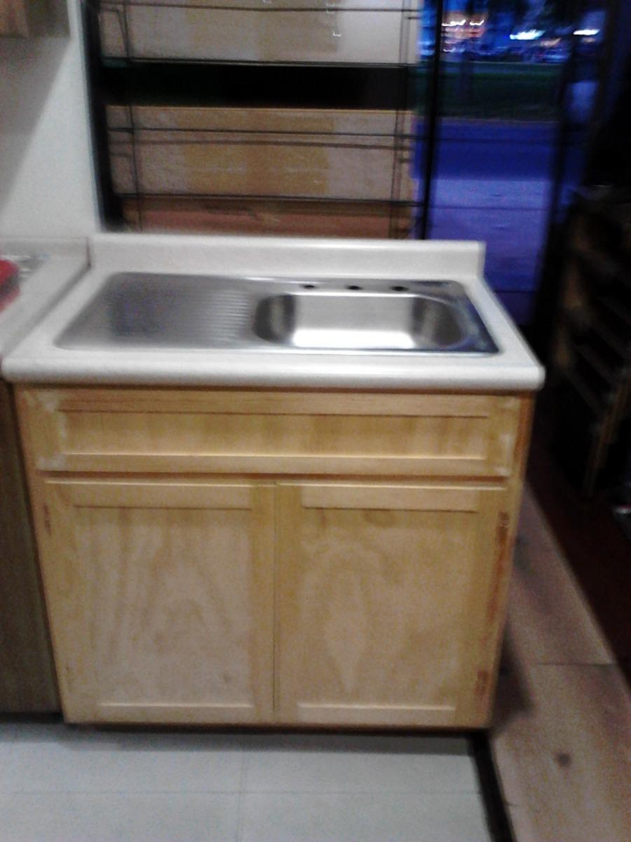 Mueble fregadero con tarja sencilla 2 en - Fregaderos de cocina precios ...