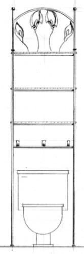 Imagenes De Organizador De Baño:Mueble Organizador Baño, En Herreria Rústica Mod Alcatraz – $